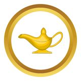 Middle east oil lamp vector icon Royalty Free Stock Photos