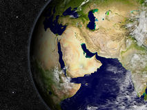 Middle East on planet Earth Royalty Free Stock Photo