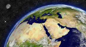 Middle East on planet Earth Stock Photo
