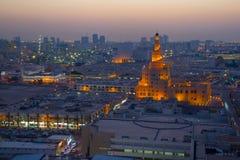 Middle East, Qatar, Doha,  Kassem Darwish Fakhroo Islamic Cultural Centre at Dusk Stock Image