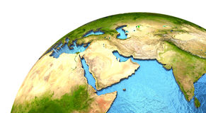 Middle East region on Earth Royalty Free Stock Photo