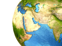 Middle East region on Earth Stock Photo