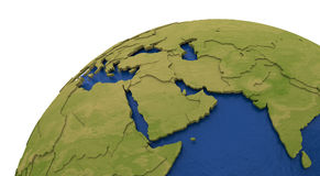 Middle East region on Earth Stock Image