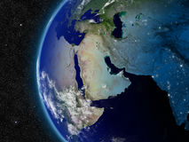 Middle East from space Stock Photos