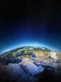 Middle East from space Royalty Free Stock Images