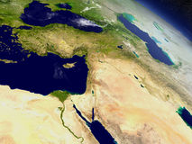 Middle East from space Stock Images