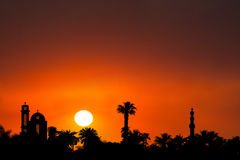Middle East Sunset Sunrise Background Stock Photos