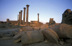 MIDDLE EAST SYRIA BOSRA RUINS Royalty Free Stock Photos