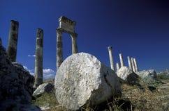 MIDDLE EAST SYRIA HAMA APAMEA RUINS Stock Image