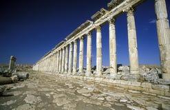 MIDDLE EAST SYRIA HAMA APAMEA RUINS Stock Photography