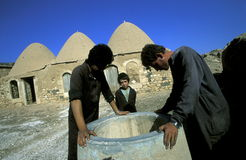 MIDDLE EAST SYRIA HAMA SAROUJ HOUSE Stock Photography