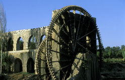 MIDDLE EAST SYRIA HAMA WATERWHEELS Stock Image