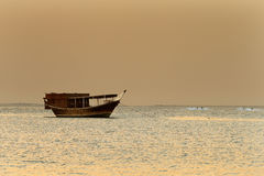 Middle East: The traditional sail boat is called the Dhow Royalty Free Stock Images