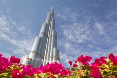 Middle East, United Arab Emirates, Dubai, The Burj Khalifa, Worlds Tallest Building Stock Image