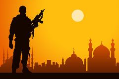 Middle east war Stock Photography