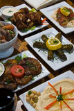 Middle Eastern Appetizer Spread Stock Photography