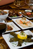 Middle eastern appetizer spread Royalty Free Stock Photo
