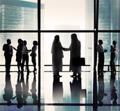 Middle Eastern Business Handshake Office Concepts Stock Images