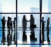 Middle Eastern Business People Office Handshake Stock Photography