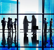 Middle Eastern Business People Office Handshake Royalty Free Stock Photography