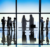 Middle Eastern Business People Office Handshake Royalty Free Stock Images