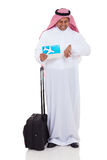 Middle eastern businessman flight Stock Photos