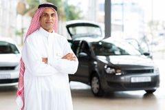 Middle eastern car dealer principal Royalty Free Stock Images