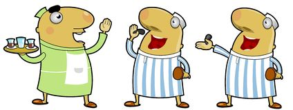 Middle Eastern Characters. Funny illustration of middle eastern characters Vector Illustration