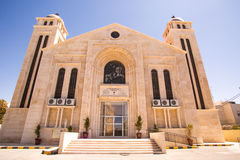 Middle Eastern Church. This is the inside of a Middle Eastern Church in Amman Jordan Royalty Free Stock Photo