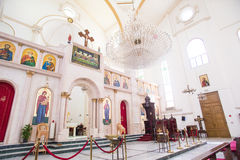 Middle Eastern Church. This is the inside of a Middle Eastern Church in Amman Jordan Stock Images