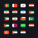 Middle Eastern country flags vector illustration