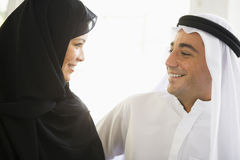 A Middle Eastern couple Royalty Free Stock Photos