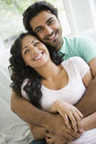 A Middle Eastern couple. Cuddling Stock Photo