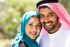 Middle eastern couple. Close up portrait of beautiful middle eastern couple Stock Images