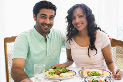 Middle Eastern couple enjoying a meal Royalty Free Stock Images