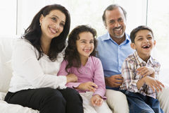 Middle Eastern couple with their grandchildren Stock Photography