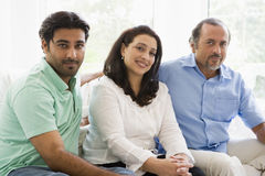 Middle Eastern couple with their son Royalty Free Stock Photos