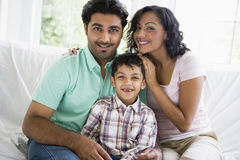 Middle Eastern couple with their son Stock Photography