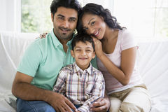 Middle Eastern couple with their son Stock Images