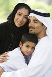 A Middle Eastern couple and their son Stock Photo