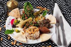 Middle eastern cuisine royalty free stock photography