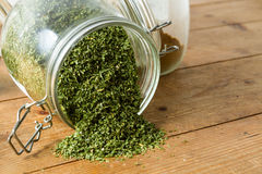 Middle Eastern cuisine: dried parsley Royalty Free Stock Image
