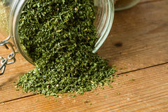 Middle Eastern cuisine: dried parsley Royalty Free Stock Images