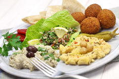 Middle eastern cuisine Royalty Free Stock Image