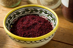 Middle Eastern cuisine: sumac Royalty Free Stock Image