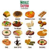 Middle Eastern Cuisine. A vector illustration of Middle Eastern Cuisine vector illustration