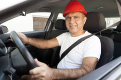 Middle Eastern Driver. With Seat Belt Stock Photo