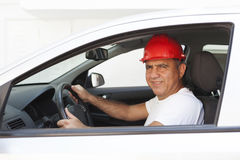 Middle Eastern Driver. In van Royalty Free Stock Image