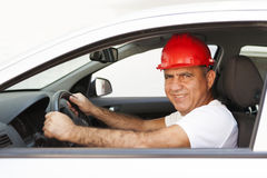 Middle Eastern Driver. In van Stock Photos