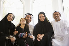 A Middle Eastern family royalty free stock image
